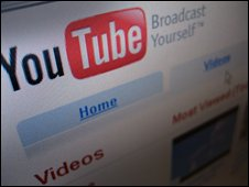 YouTube hompage, BBC