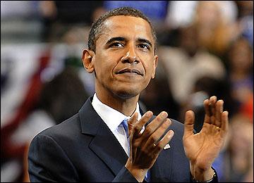 ل�ظة فوز اوباما