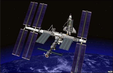 Endeavour docking with ISS