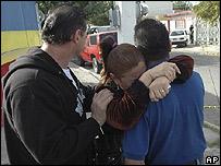 Familiares de victima en Ciudad Juárez.