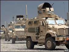 US military vehicles in Iraq - 9/9/2008