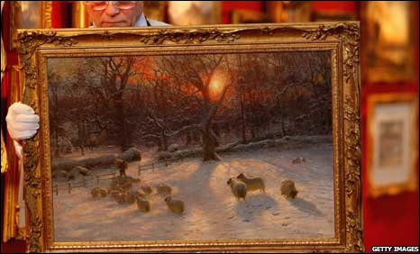 BBC NEWS UK Scotland Christmas Card Painting Auctioned