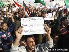 Sadr Protests for Iraqi TV journalist