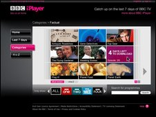 BBC iPlayer screen shot