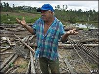 Afectado por el huracán Gustav en Cuba