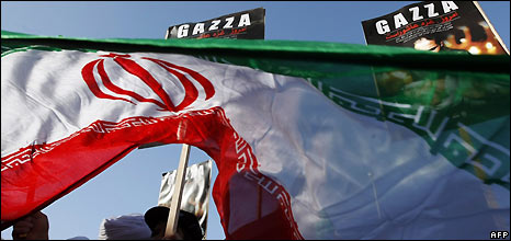 Anti-Gaza conflict demonstration in Tehran - 2/1/2009