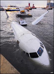 Plane in Hudson River