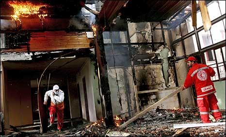 Hospital destroyed by Israeli shelling