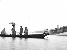 A colonial era houseboatin the Niger Delta