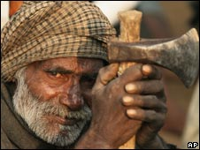 An Indian miner in Allahabad who fears he may lose his job
