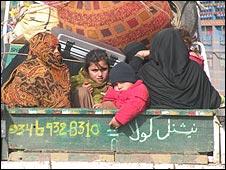Local people fleeing Swat