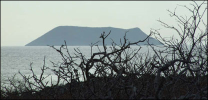 Isla Dafne Mayor, en Galápagos.