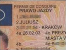 Polish driving licence (generic)