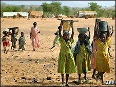 Sudanese children at Darfur refugee camp - 26/6/2008