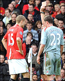 Nemanja Vidic (left) and Jamie Carragher