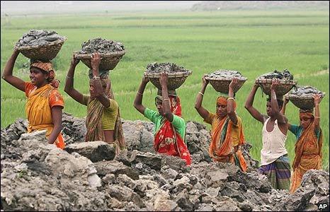 Bangladeshi labourers in Saver, on the outskirts of Dhaka