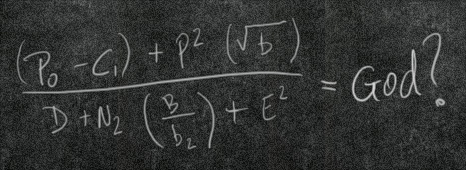 Graphic of fake equation