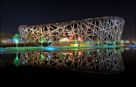 Bird's Nest stadium, Beijing - photo Earth Hour