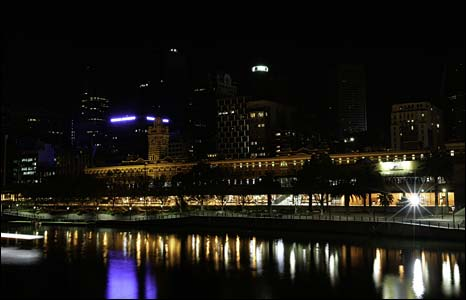 Melbourne skyline - Photo Earth Hour