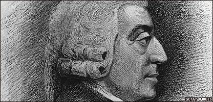 Dibujo de Adam Smith, hecho por J. Jacks y C. Picart.