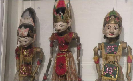 Puppets at Mr Peerzada's show
