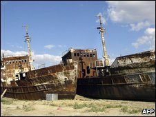The Aral Sea has shrunk by 90% in recent decades