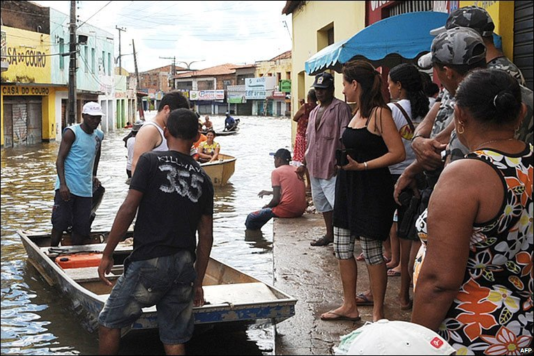 Weeks of heavy rain in northern Brazil have caused widespread flooding that has forced hundreds of thousands of people from their homes. BBC.