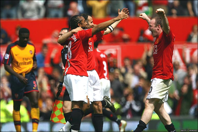 Manchester United won ninth Premiership title 16 May 2009. BBC.