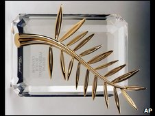 The Cannes Golden Palm (image from 1998 festival)