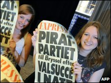 Pirate Party supporters