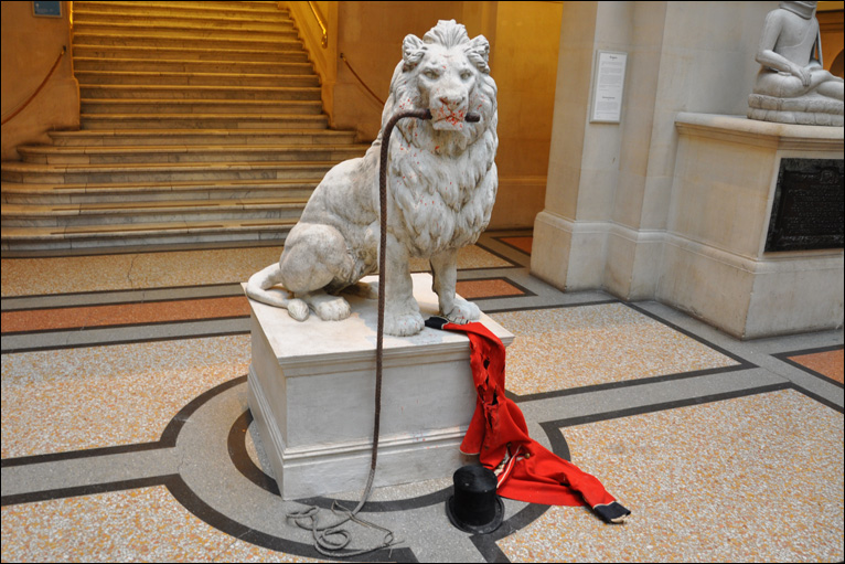Lion tamer eaten
