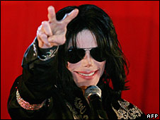 Michael Jackson, in London on 5 March 2009