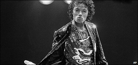 Michael Jackson performs in Los Angeles, California (1 December 1984)