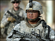 US soldier in Baquba