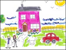 Drawing of a dream home by Shelter staff