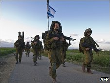 Israeli troops return from Gaza 19.1.09