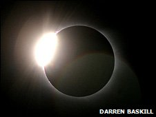 Total solar eclipse photographed in Egypt, 2006 (Darren Baskill)