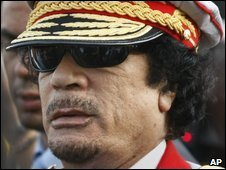 Col Gaddafi in Libya on 01/09/09