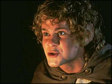 Dominic Monaghan as a hobbit