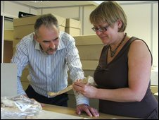David Score and Ceri Boston from Oxford Archaeology