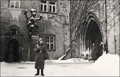 Guards on duty at Colditz Castle