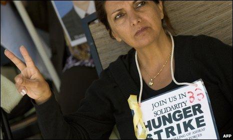 Hunger striker in Washington on 3 September