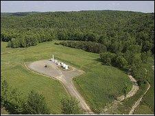 Chesapeake shale gas drilling rig (Statoil image)