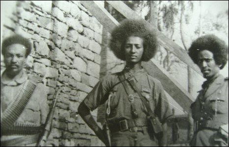 Ethiopian General Jagama Kello at 15 years of age during the WWII fighting Fascist Italy