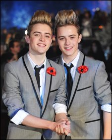 Twins Jedward aka John and Edward Grimes from the X-Factor