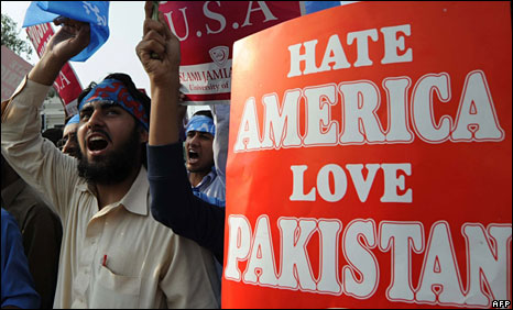 Protests against US in Pakistan