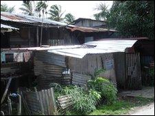 City shanty town