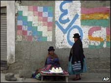 Two women in El Alto, Bolivia, 25 Nov