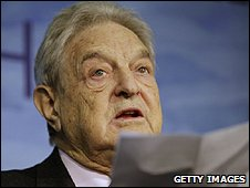 George Soros speaking at the Copenhagen summit (Getty Images)