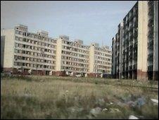 Housing estate in Lunik 9